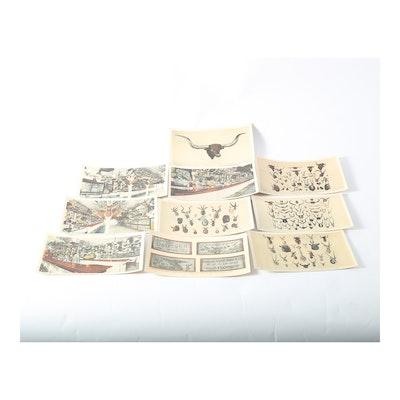 Vintage ephemera auctions collectible ephemera for sale for World decor auction san antonio