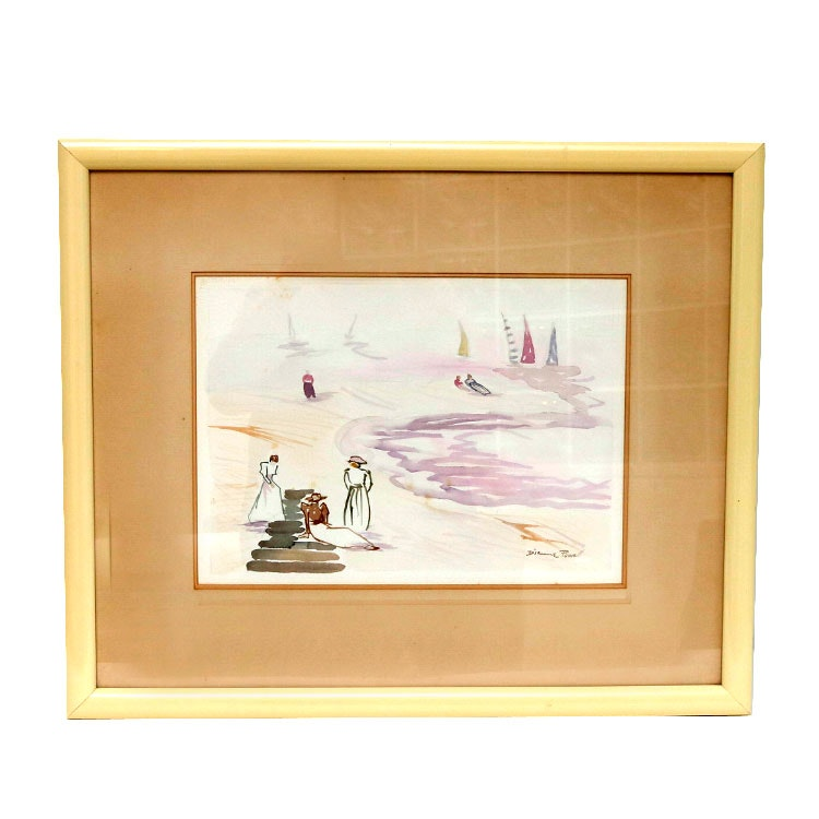 Dianne Powell Signed Original Watercolor Ebth