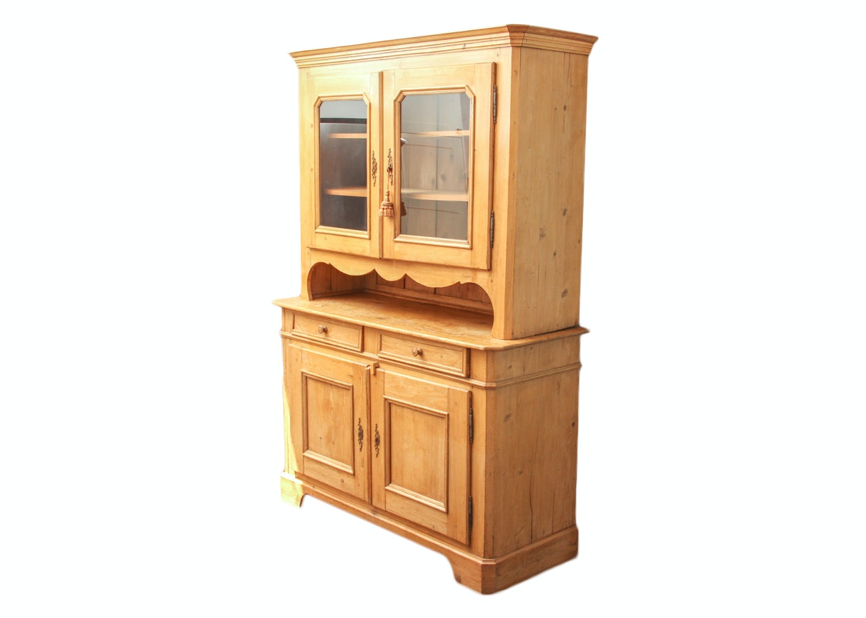 19th c Country Pine Hutch EBTH