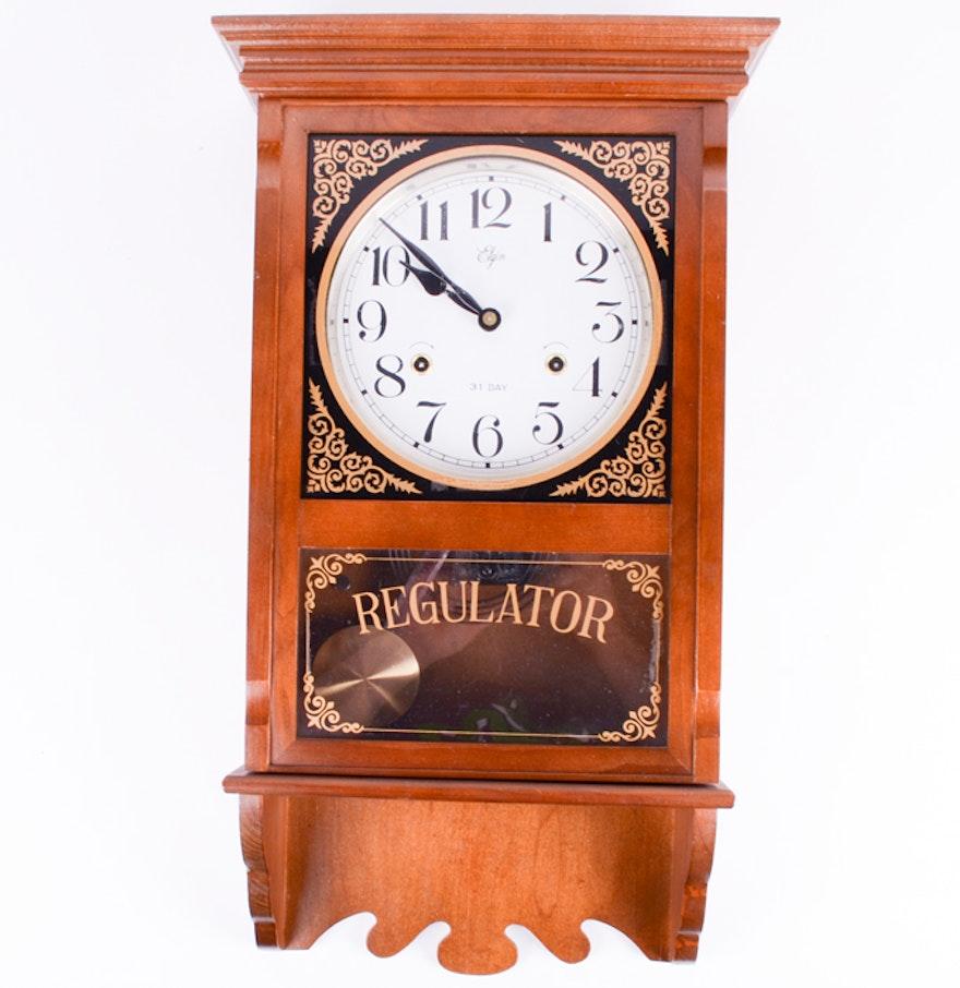 Elgin regulator 31 day wall clock ebth elgin regulator 31 day wall clock amipublicfo Image collections