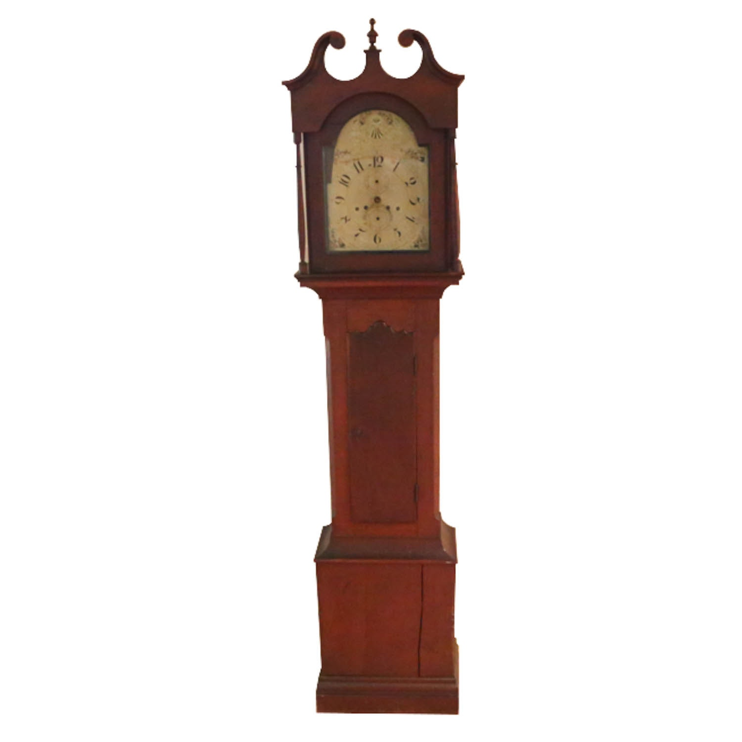 Antique Silas Hoadley Bornholm Style Grandfather Clock