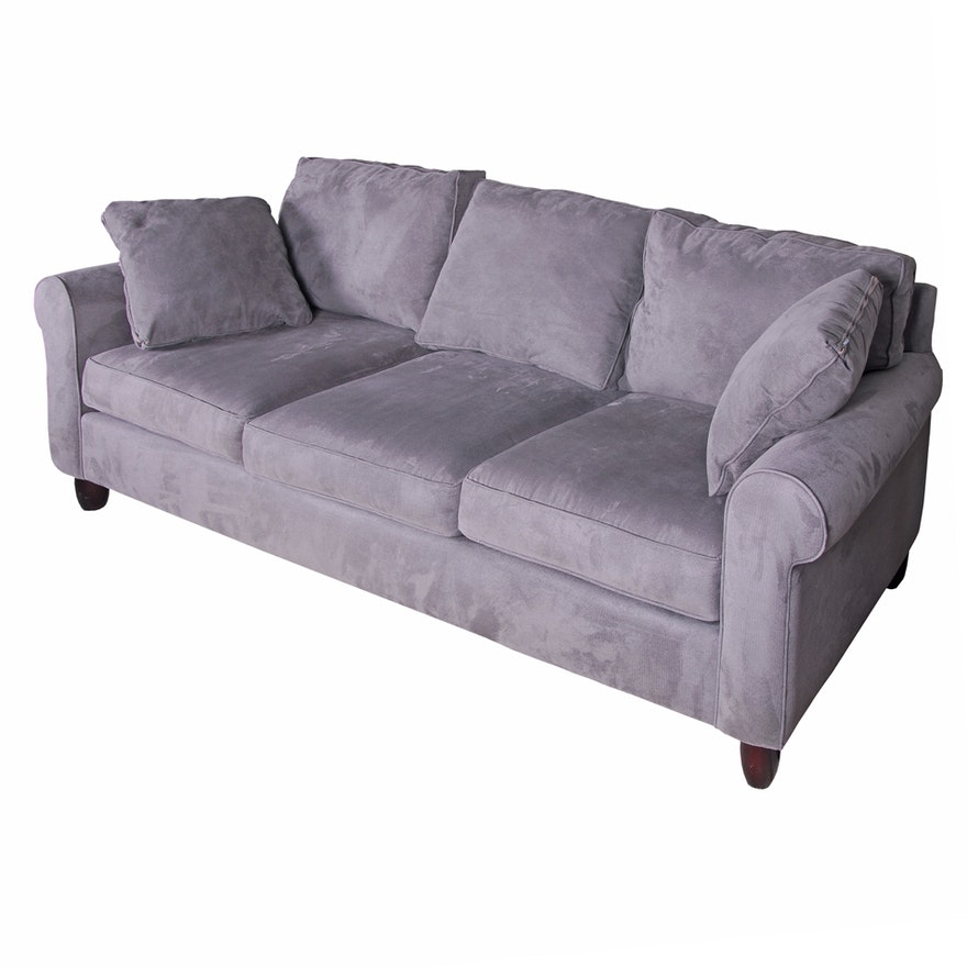 Haverty\'s Charcoal Gray Microfiber Sofa