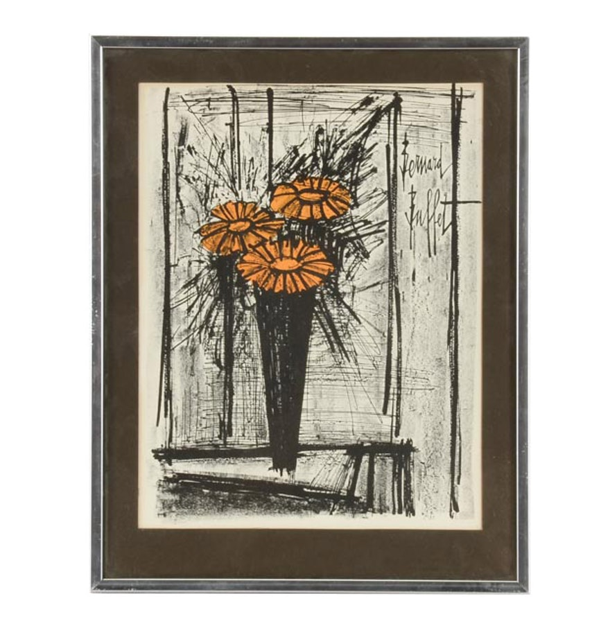 "Bernard Buffet Original Lithograph ""Flower"" : EBTH"