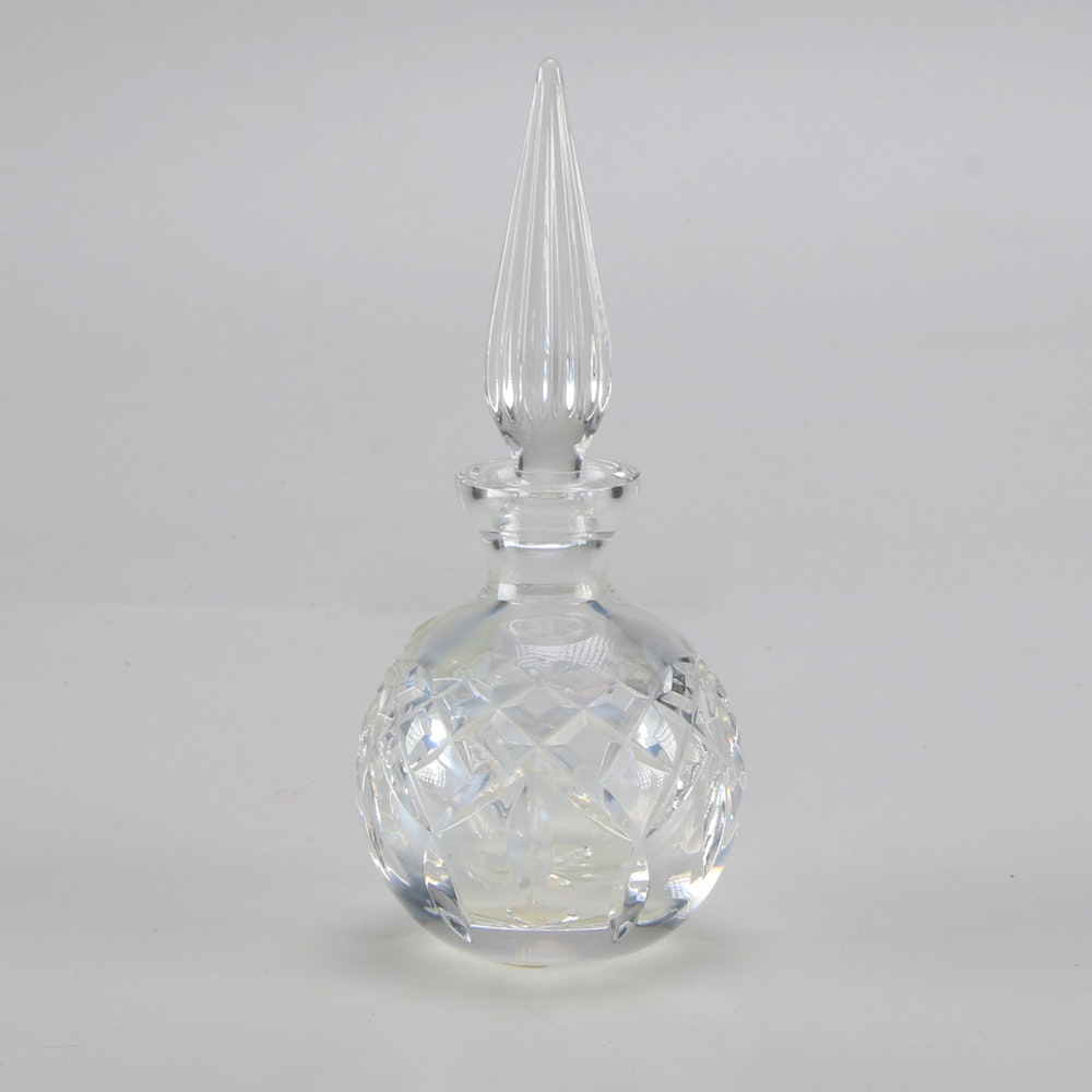 "Waterford Crystal Round ""Lismore"" Perfume Bottle and Stopper"