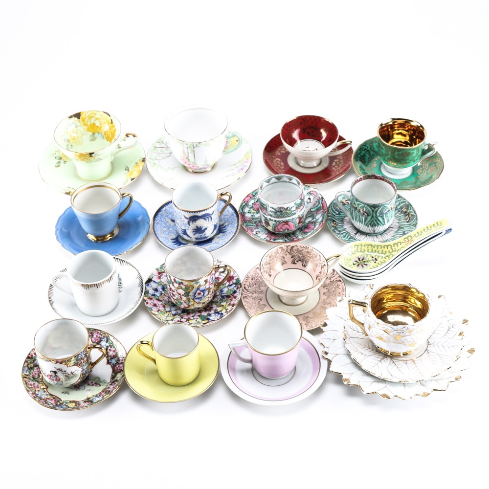 Large Collection of Tea Cups and Saucers
