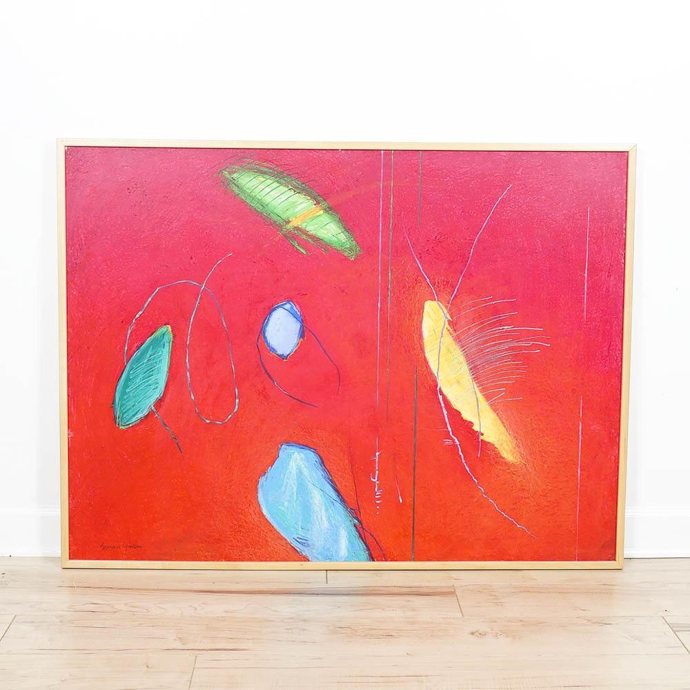 "Susan Gorsen Mixed Media Artwork ""And Far Away"""