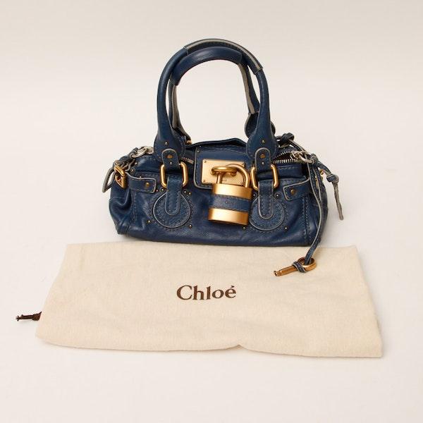 chloe imitation - Chloe Royal Blue Leather Paddington Handbag : EBTH