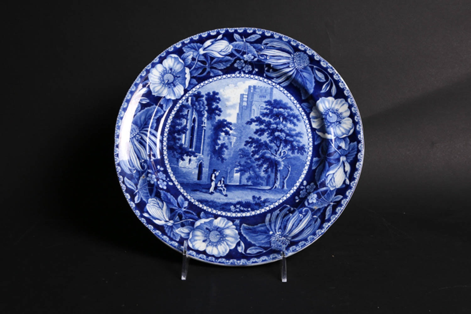 "Antique Clews Staffordshire ""Fountains Abbey"" Transferware Plate"