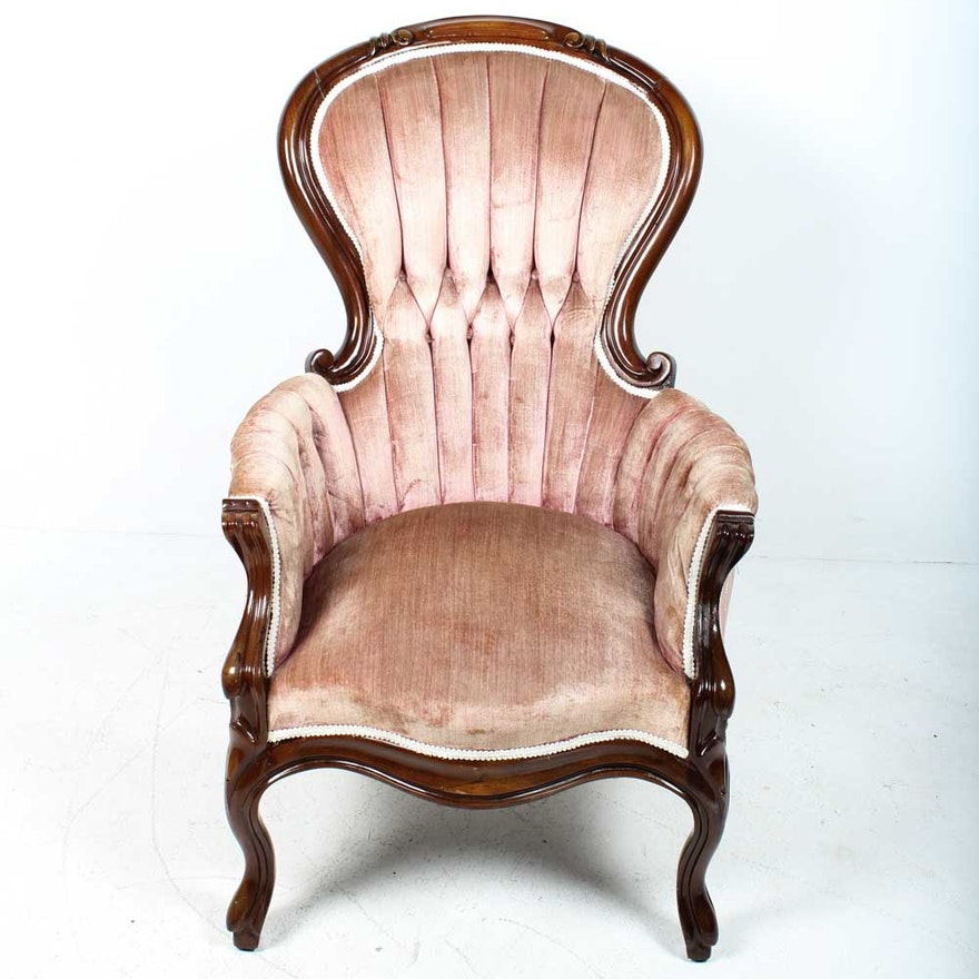 Antique Victorian Ladies Parlor Chair ... - Antique Victorian Ladies Parlor Chair : EBTH