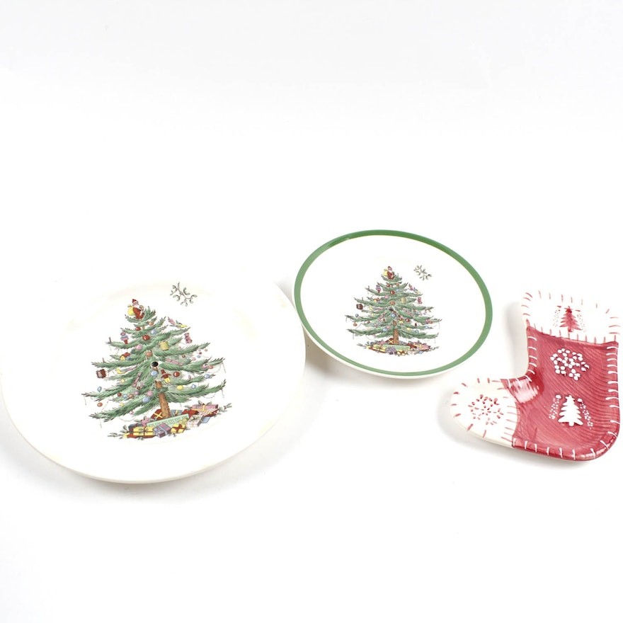 decorative christmas plates including spode - Decorative Christmas Plates