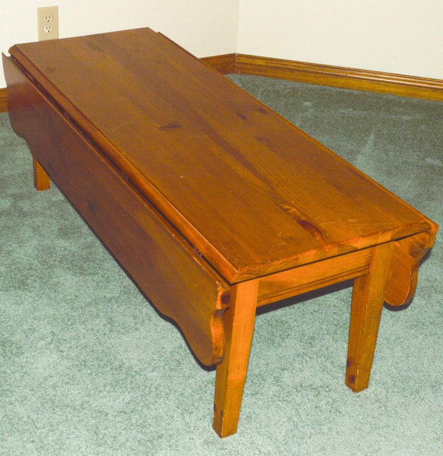 Maple Drop Leaf Coffee Table Ebth