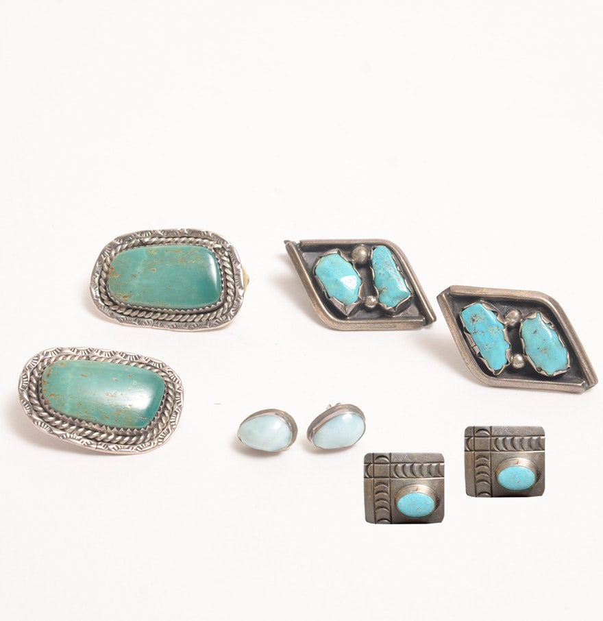 Vintage southwestern silver and turquoise jewelry ebth for Southwestern silver turquoise jewelry
