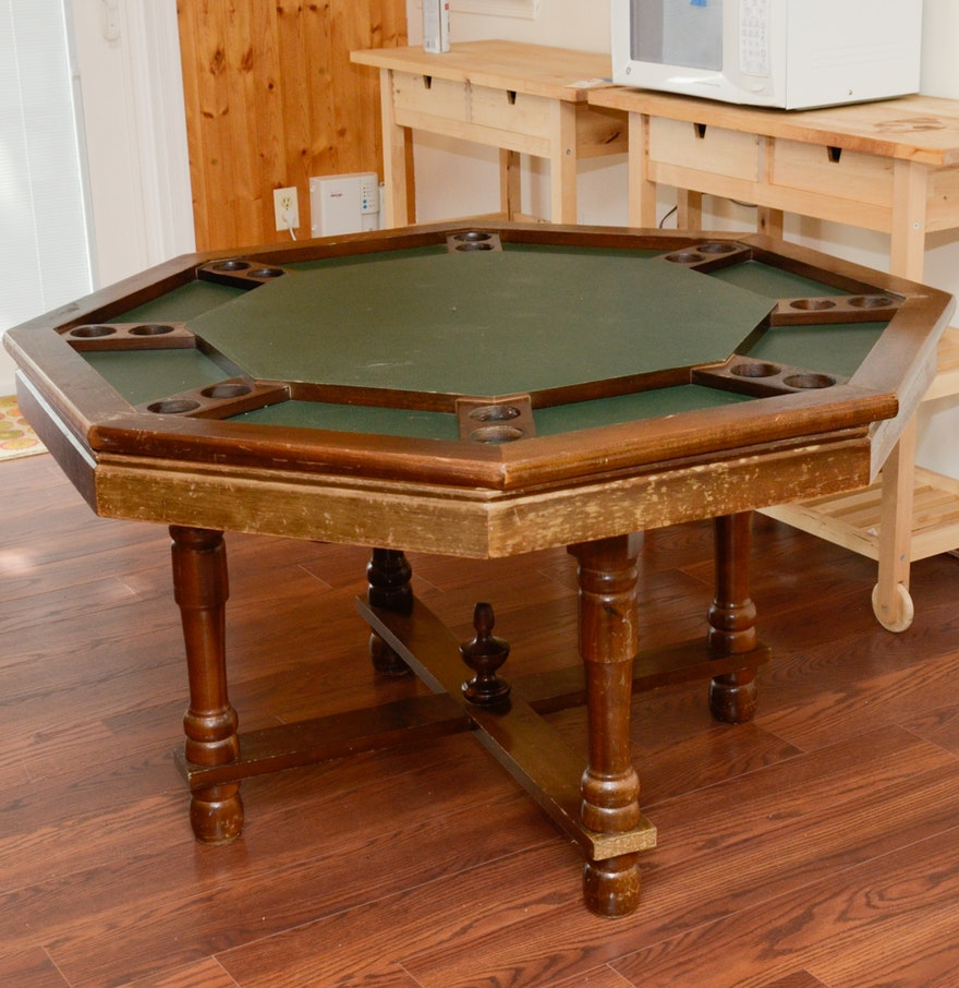 Convertible bumper pool and poker game table ebth for 11 in 1 game table