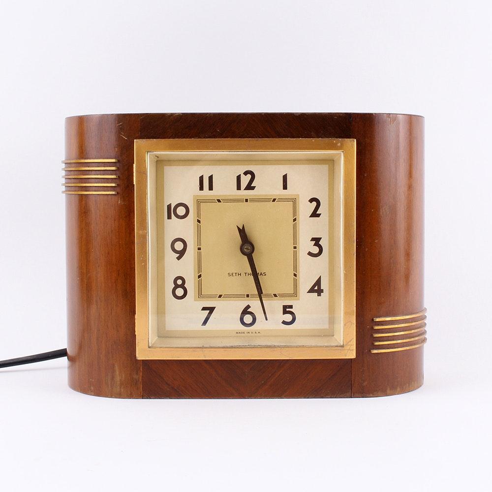 Vintage Seth Thomas Electric Shelf Clock
