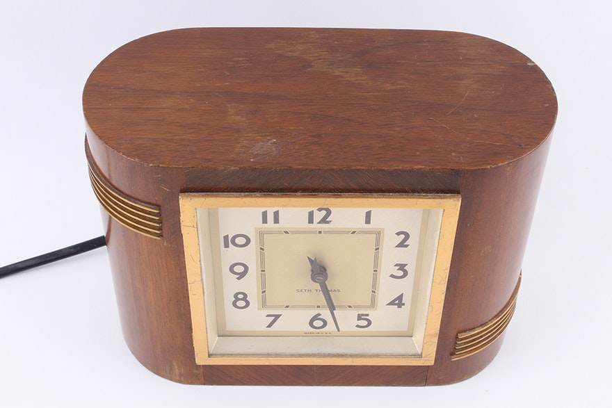 Vintage Seth Thomas Electric Shelf Clock Ebth