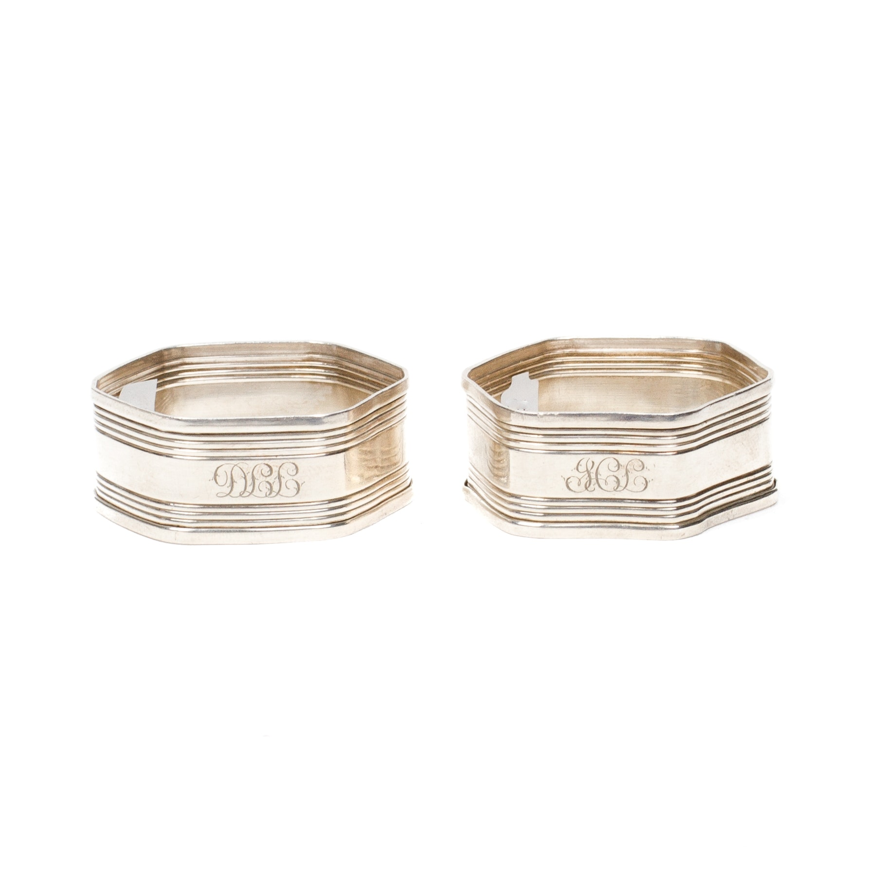 Pair of Sterling Silver Napkin Rings