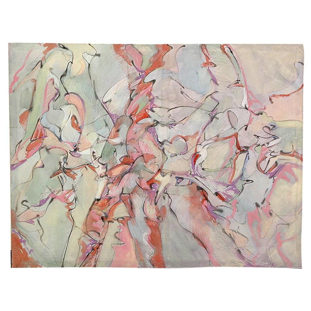 "Nancy Cassell Mixed Media Artwork ""Fragments #11"""
