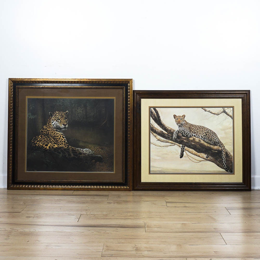 Two Charles Fracé Jaguar Prints