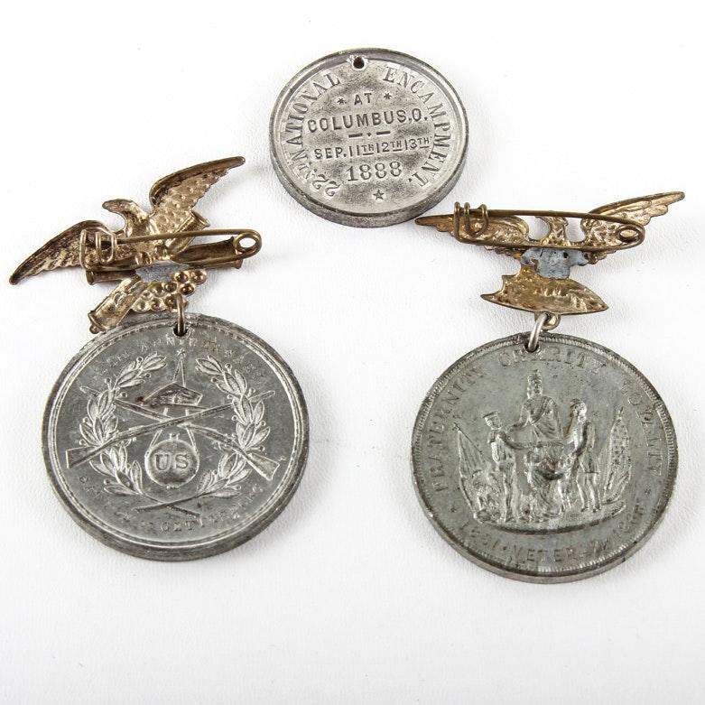 Civil War Encampment Medals
