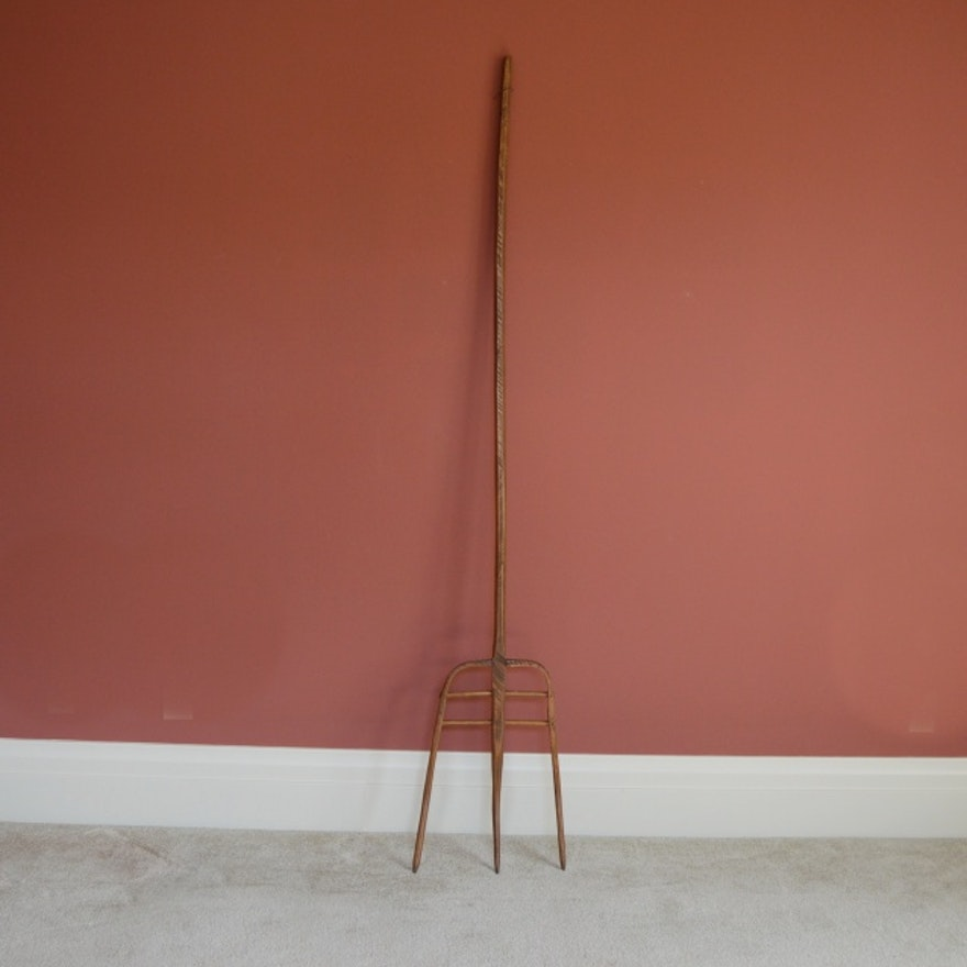 Antique Wooden Pitchfork