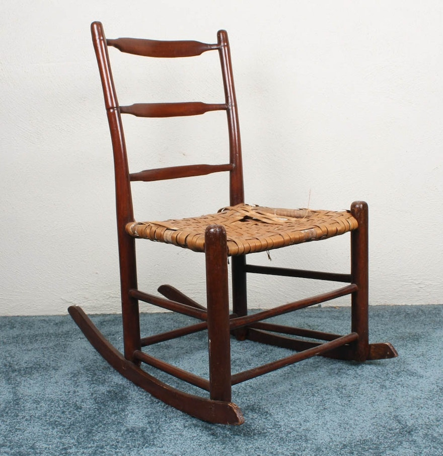 Vintage cane rocking chair - Vintage Childs Size Rocking Chair With Cane