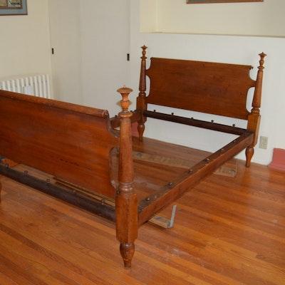 Antique walnut jenny lind bed ebth for Rope bed frame