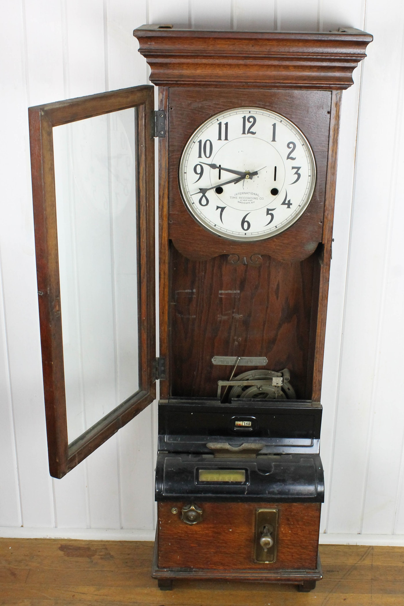 Antique International Time Recording Company Time Clock Ebth