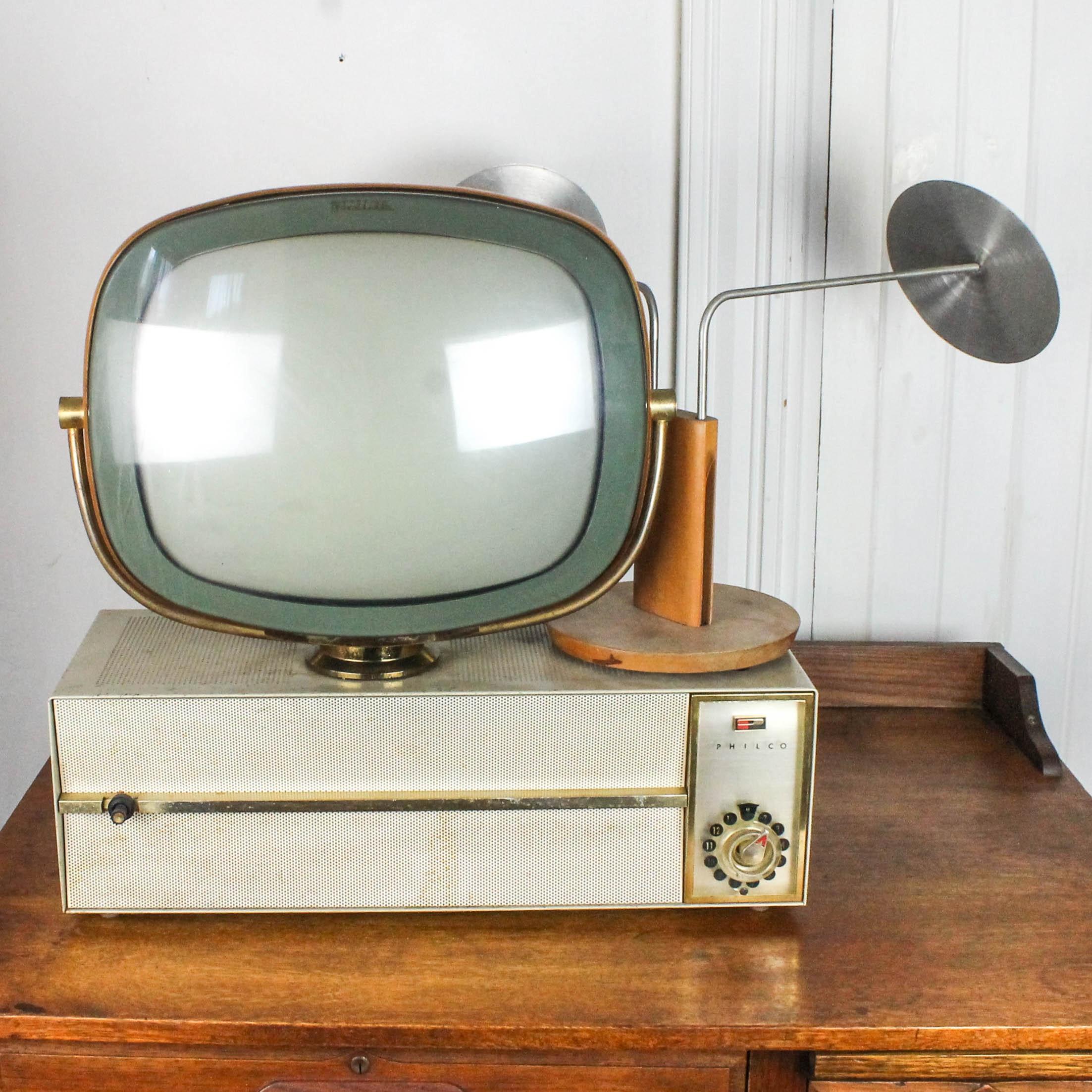 Vintage Philco Predicta Television with Antenna
