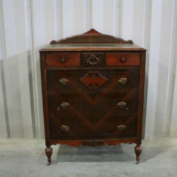 Genial Depression Era Five Drawer Chest