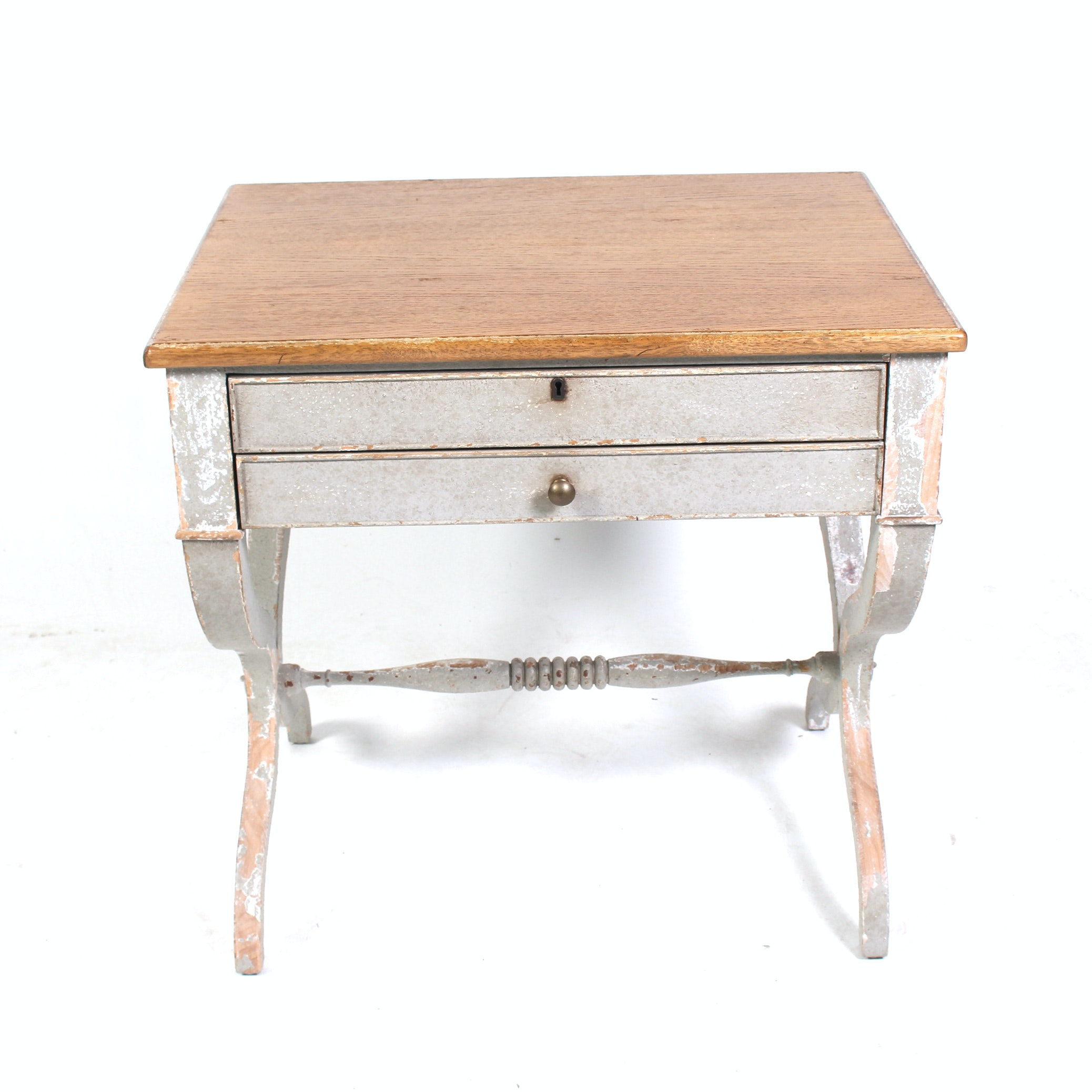 Distressed Side Table by Monarch for Century
