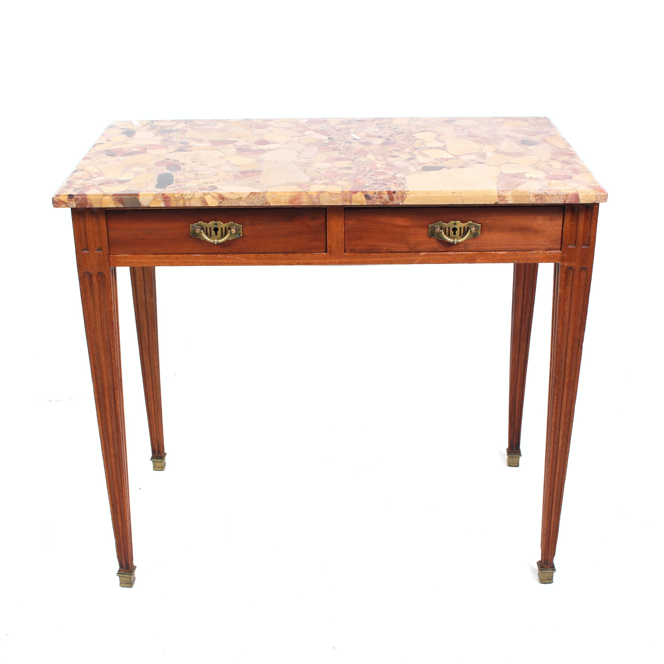 Polished Stone Topped Side Table