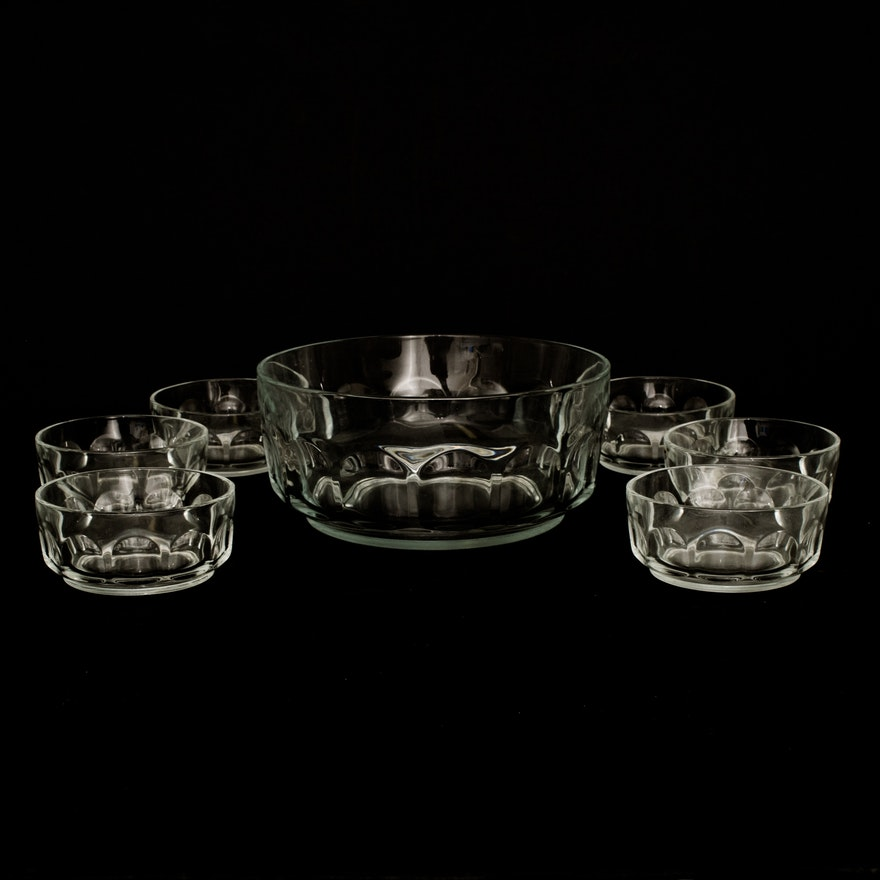 Vintage Arcoroc France Glass Fruit Bowl Set