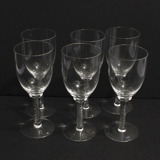 Set of Six Pressed Glass Water Glasses
