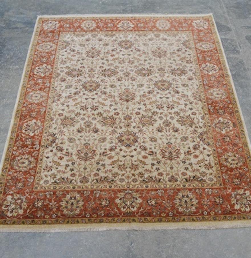 Jaipur Agra Design Hand Knotted Wool Area Rug : EBTH