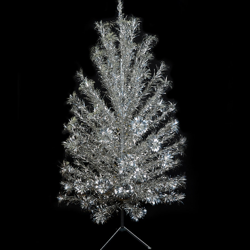 Vintage Peco Sparlking Lifetime Aluminum Christmas Tree
