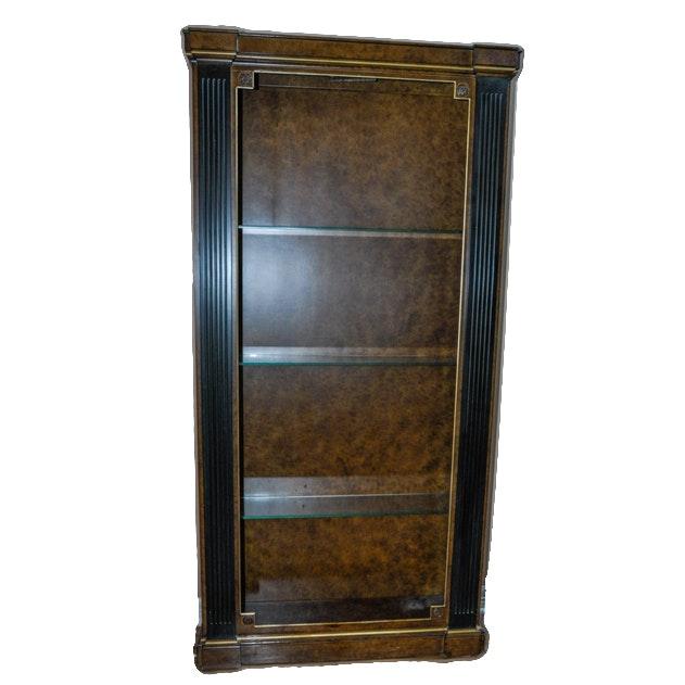 Art Deco Burled Walnut Bookcase