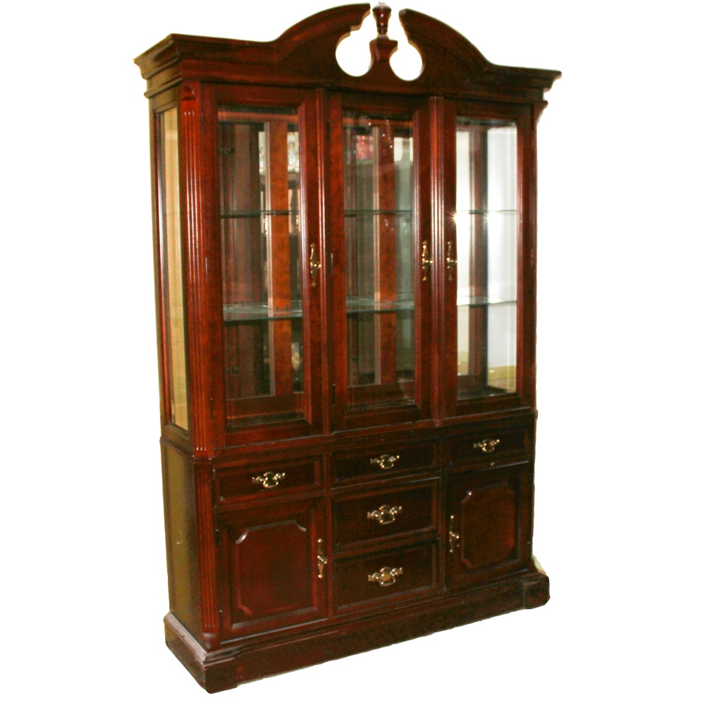 Bassett Furniture Chippendale Style China Cabinet Ebth
