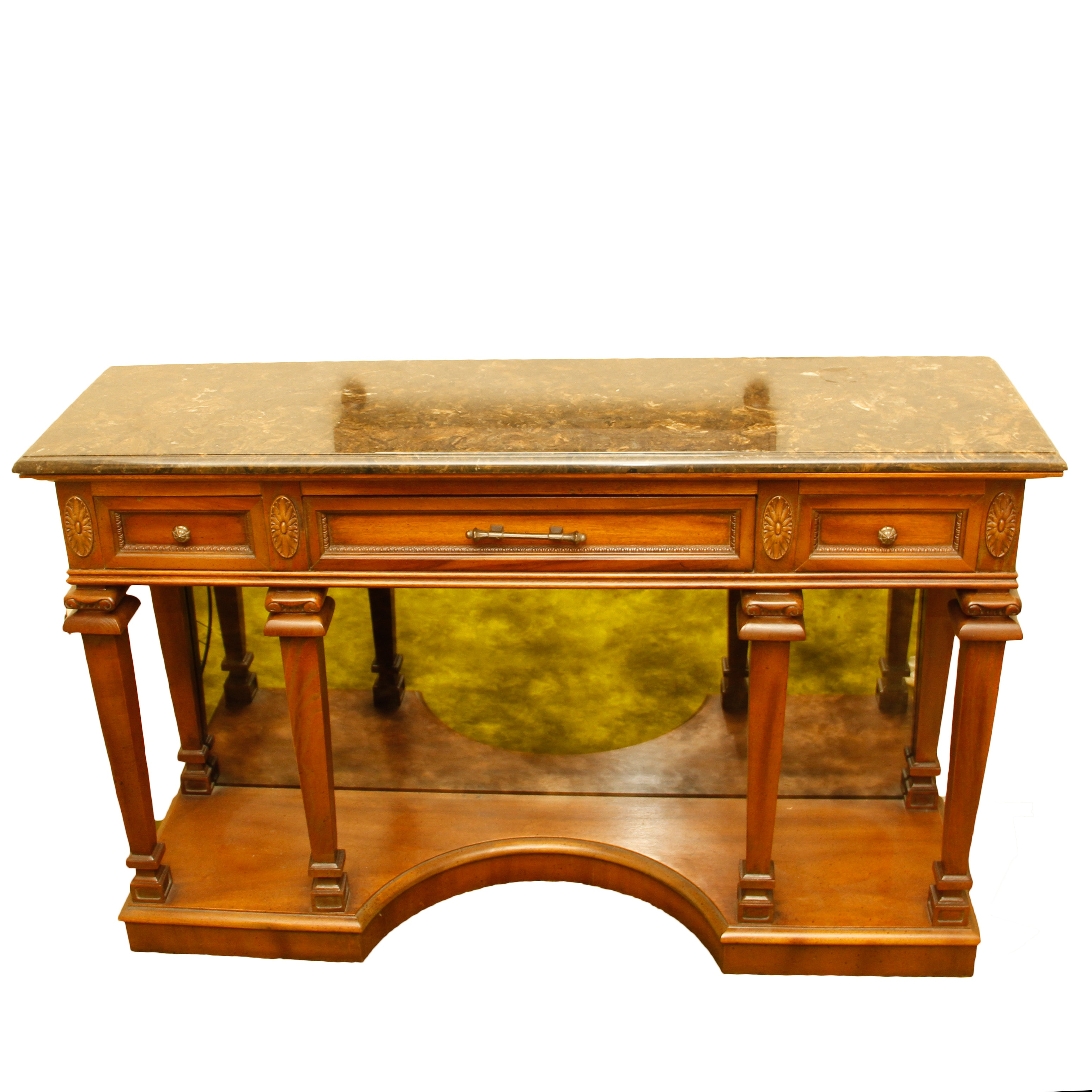 Marble Top Entry Way Table by Samford Furniture