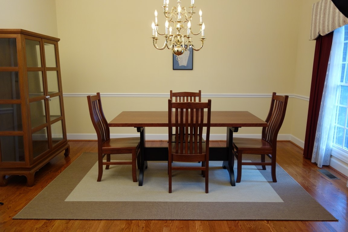 Cherry Shaker Dining Room Table And Chairs Ebth