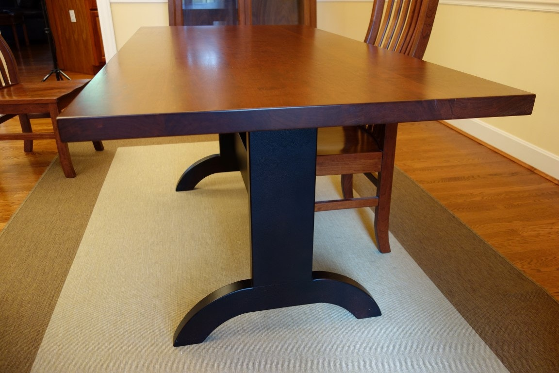 teak shaker dining room table and chairs
