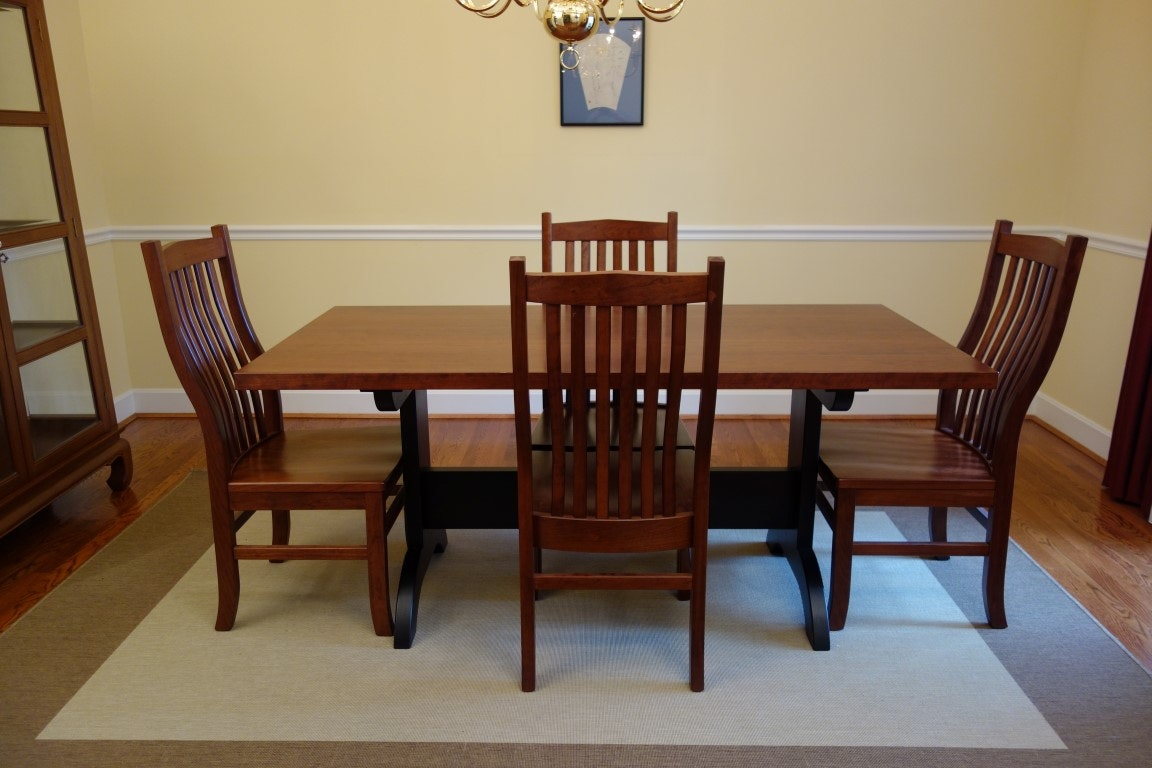 Cherry shaker dining room table and chairs ebth - Shaker dining room furniture ...