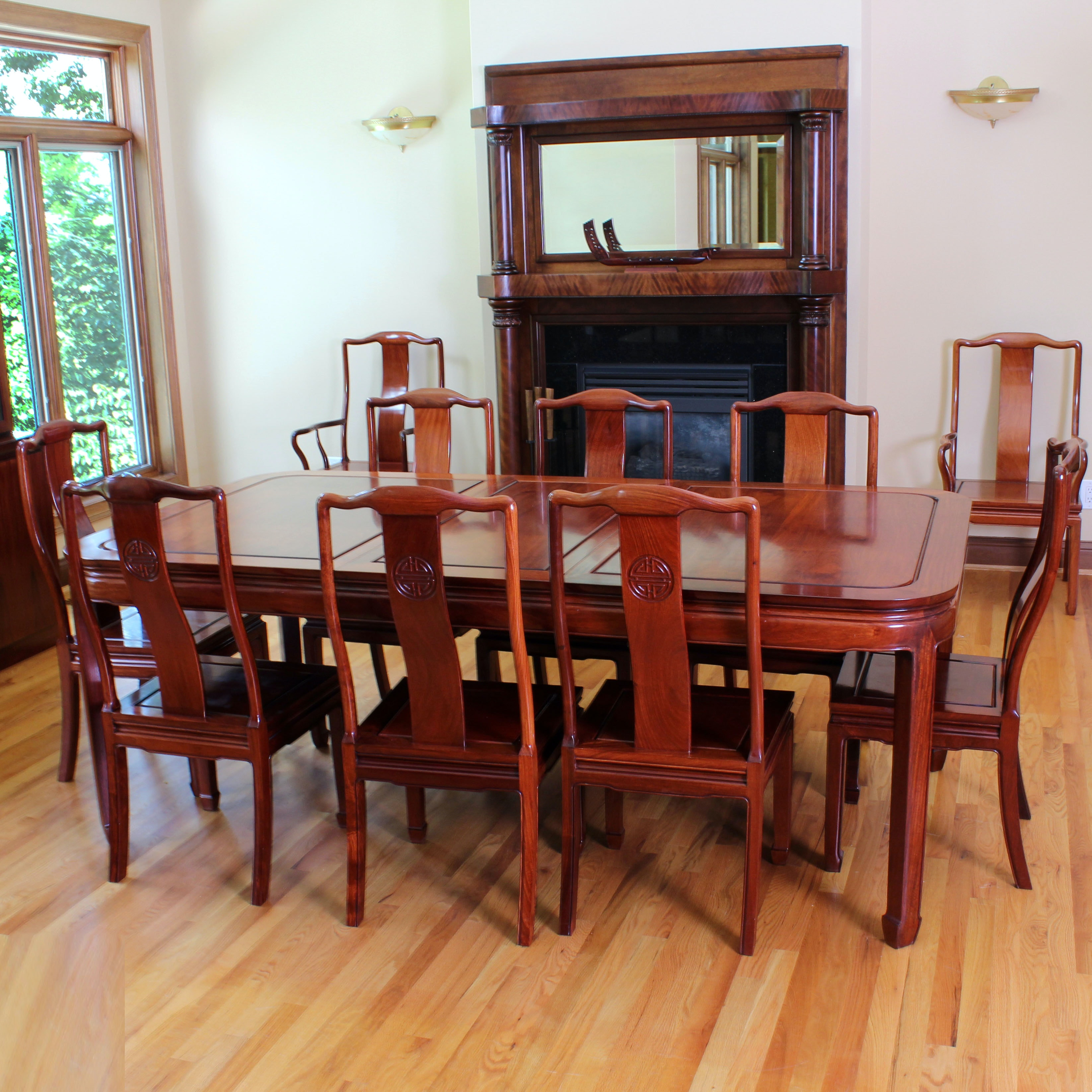 Custom Made Rosewood Dining Table and Chairs