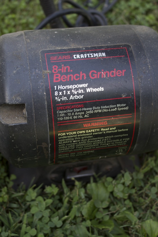 Craftsman 8 Quot Bench Grinder Ebth