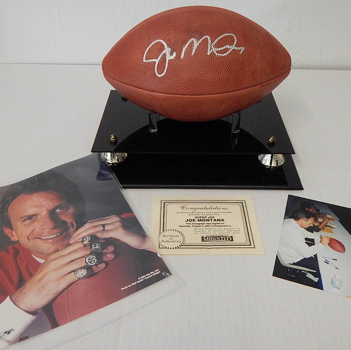 Joe Montana Signed Football