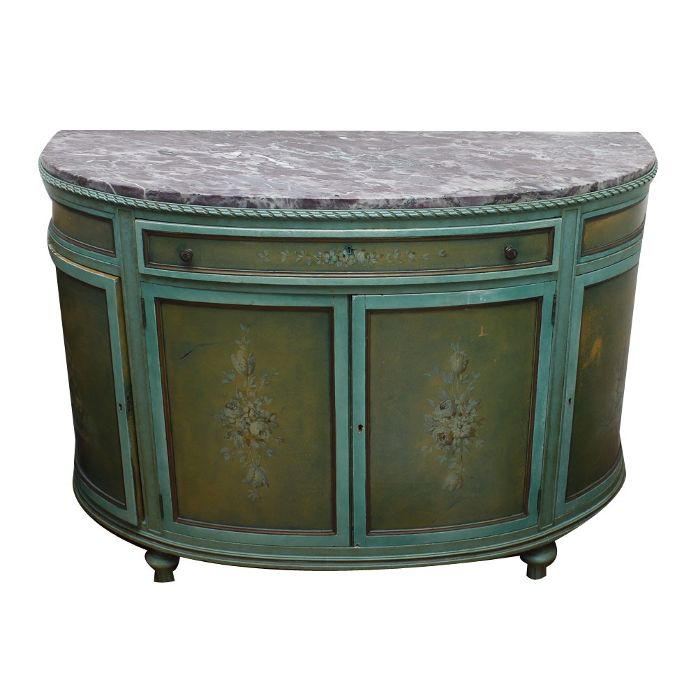 Antique Marble Top Cabinet