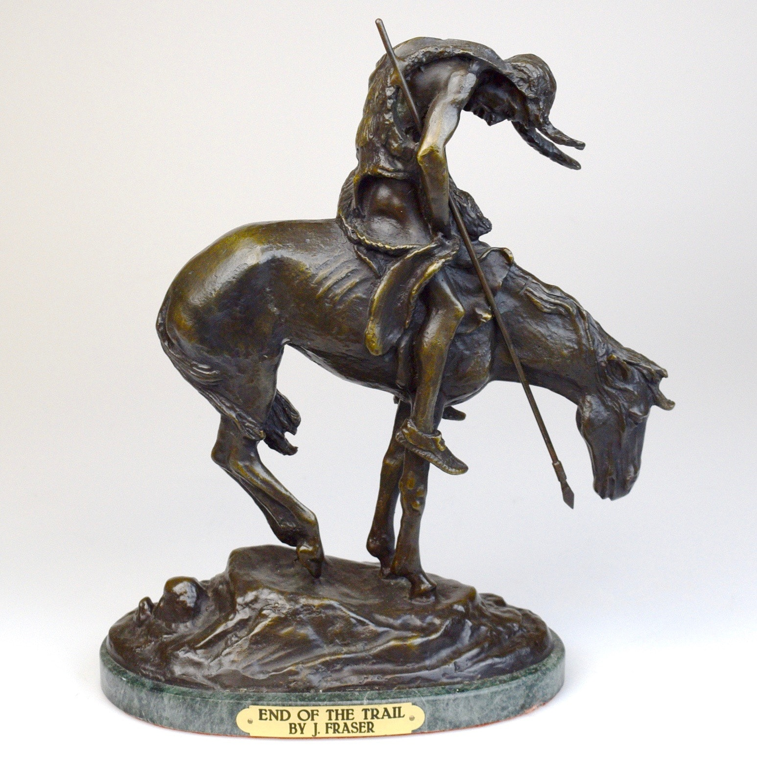 J. Fraser 'End of the Trail' Bronze Reproduction Sculpture