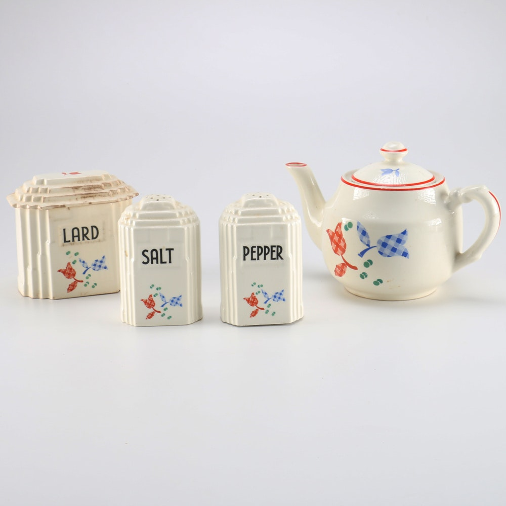 Collection of Vintage Harker Hotoven Pottery