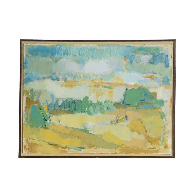 "Harry Reisiger Original Acrylic on Board ""Landscape, Summer Day"""