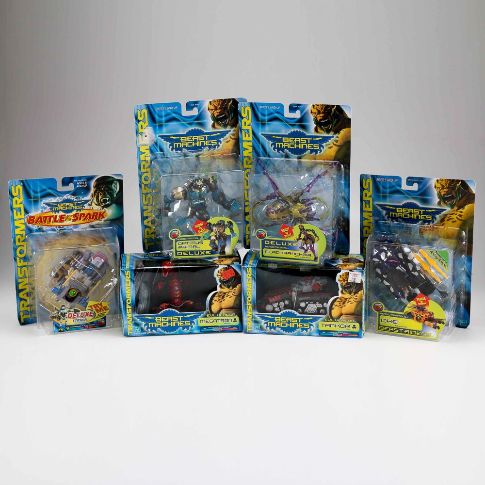 "Collection of ""Transformers"" Beast Machines Action Figures"