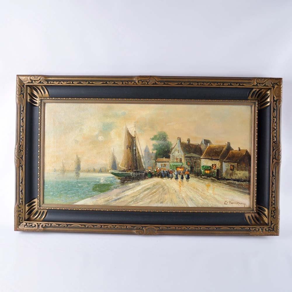 Peter Veerkamp Signed Oil on Canvas
